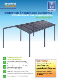 Structure solaire, abris voiture solaires