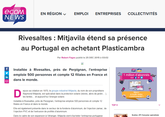 Mitjavila achète Plasticambra article ecomnews
