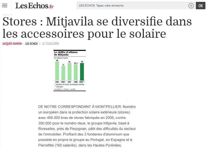 Mitjavila se diversifie dans les accessoires pour le solaire - Les Echos.fr