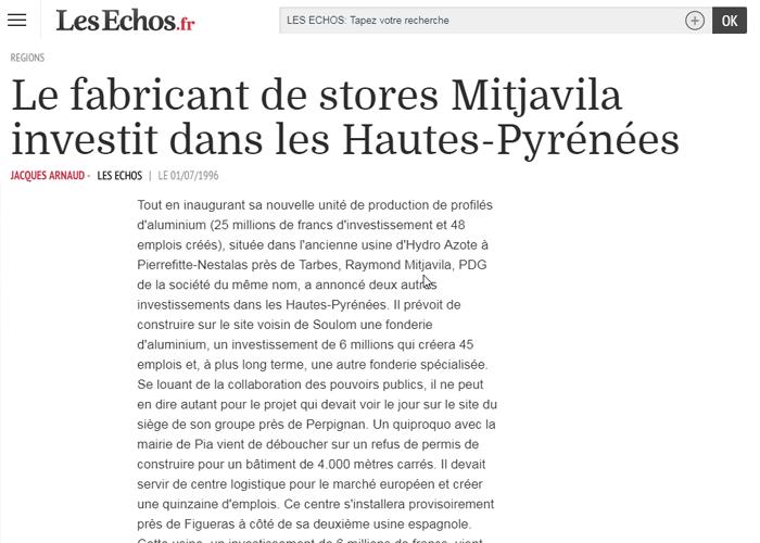 Mitjavila investit dans les Hautes-Pyrénées - Les Echos.fr