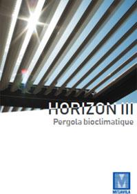 Brochure Horizon 3 Pergola bioclimatique