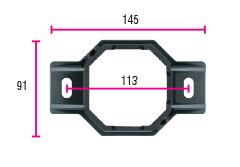 ST36 support de fixation poteau