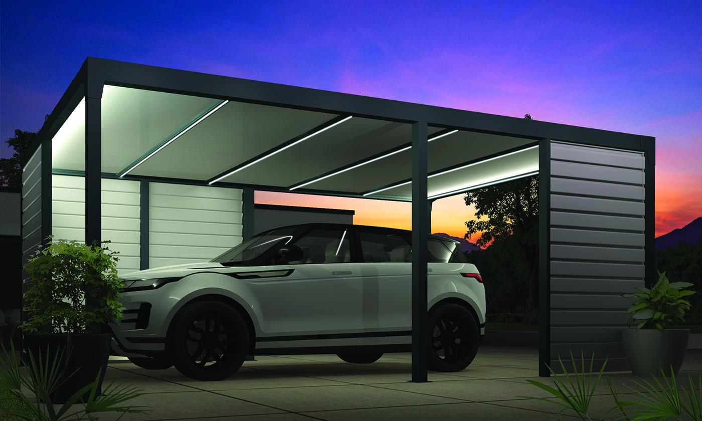 Carport un abri de voiture aluminium et thermotop