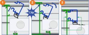 Clip profil de verrouillage