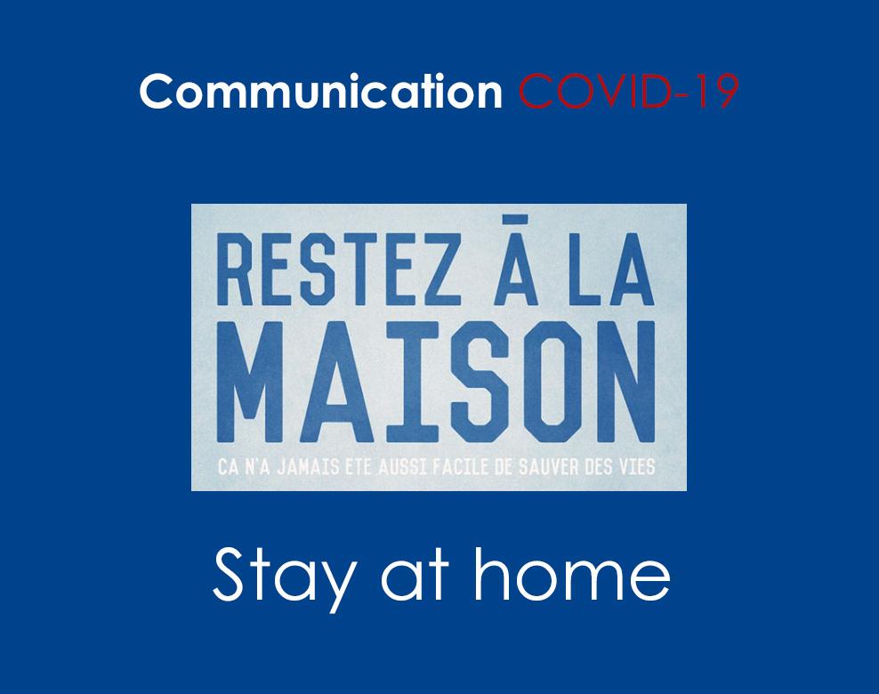 Restez à la maison COVID-19