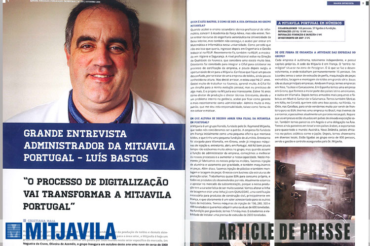 Article de presse Digitalisation de mitjavila Portugal